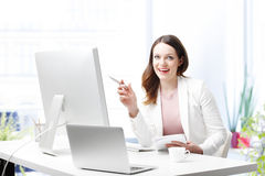 Happy young professional woman Stock Photo