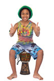 Happy young rasta guy with thumbs up Stock Photo
