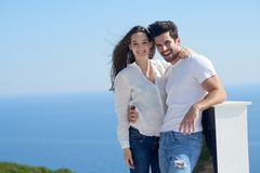 Free Happy Young Romantic Couple Have Fun Arelax  Relax At Home Stock Images - 55853894