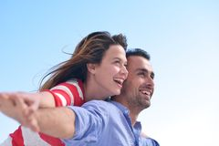 Happy young romantic couple have fun relax Royalty Free Stock Photo