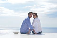 Happy young romantic couple have fun relax Royalty Free Stock Image