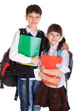Happy young school children Royalty Free Stock Images