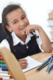 Happy Young School Girl Royalty Free Stock Photos
