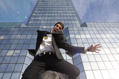 Happy young scuccessful  businessman Stock Photos