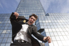 Happy young scuccessful  businessman Royalty Free Stock Image