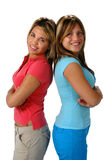 Happy young sisters royalty free stock photo