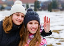 Happy young sisters. Photo of happy young sisters Royalty Free Stock Photography