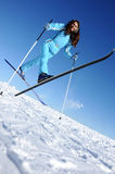 Happy young skier Stock Images