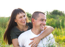 Happy young smiling couple Stock Image