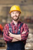 Happy young engineer stock images