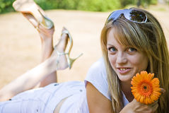 Happy young smiling woman Stock Image