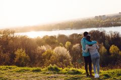 Happy young sporty couple sharing romantic moments Royalty Free Stock Photo