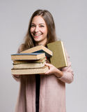 Happy young student. royalty free stock image