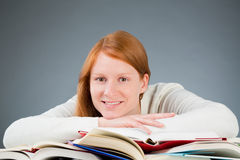 Happy Young Student with Books Stock Photos