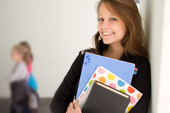 Happy young student girl. Stock Photo