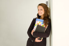 Happy young student girl. Royalty Free Stock Photo
