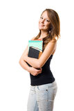 Happy young student girl. Stock Photography