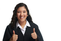 Happy young student girl Royalty Free Stock Photo