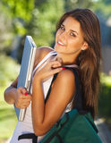 Happy young student outdoors Stock Photography