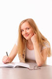 Happy young student woman Royalty Free Stock Image