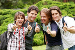 Happy young students Royalty Free Stock Photos