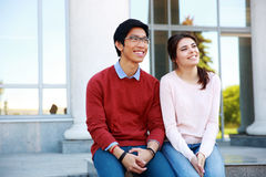 Happy young students Stock Images