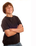 Happy young teen boy Stock Photos