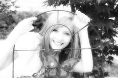 Happy young teen girl smiling Stock Photos