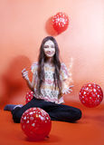 Happy young teenager girl posing. Royalty Free Stock Photos
