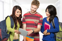 Happy young teenager students Stock Images