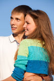 Happy young teenagers Stock Photography