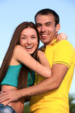 Happy young teenagers Stock Photos