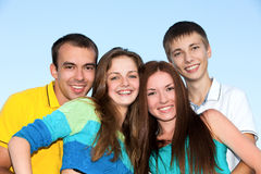 Happy young teenagers Royalty Free Stock Images