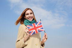 Happy young travel woman Royalty Free Stock Photography