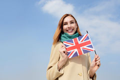 Happy young travel woman Stock Photo