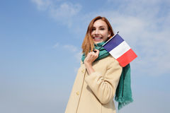 Happy young travel woman Stock Image