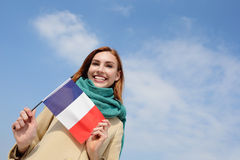 Happy young travel woman Stock Images