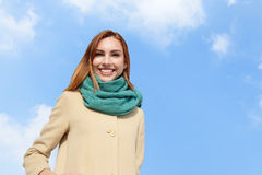 Happy young travel woman Royalty Free Stock Images