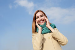 Happy young travel woman Stock Photos
