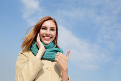 Happy young travel woman Royalty Free Stock Image