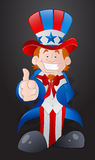 Happy Young Uncle Sam Royalty Free Stock Photo