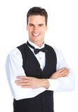 Happy Young Waiter Royalty Free Stock Images