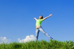 Free Happy Young Woman Stock Photo - 5708480