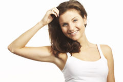 A happy young woman Royalty Free Stock Image