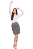 Happy young woman with arms raised Royalty Free Stock Photography