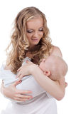 Happy young woman with baby Stock Image