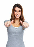 Happy young woman. Royalty Free Stock Photos