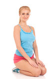 Happy young woman with beautiful slim body Stock Images