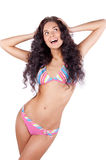 Happy young woman in bikini Royalty Free Stock Image