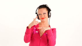 Happy Young Woman Dancing And Listening to Music stock video